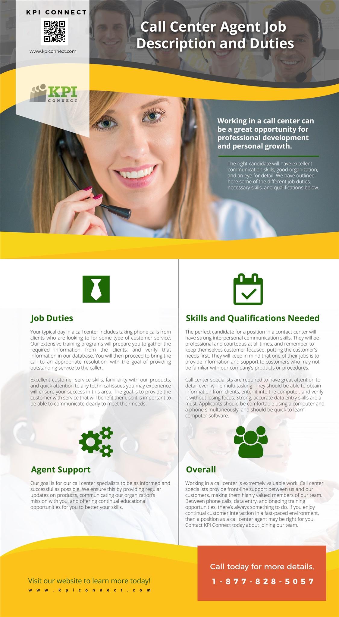 call center agent job description and duties